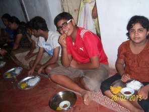 Kids enjoying the meal